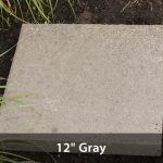 "Stepping Stone - Grey 12"" Square"