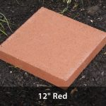 "Stepping Stone - Red 12"" Square"