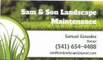 Sam & Son Landscape Maintenance