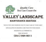 Valley Landscape Maintenance Services